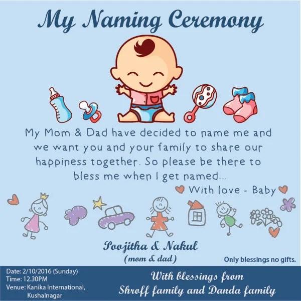 Naming Ceremony Invitation Card Sample In Marathi