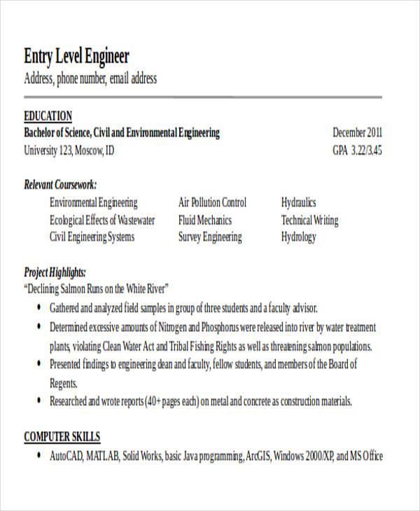 25 Generic Engineering Resume Templates Free Amp Premium Templates