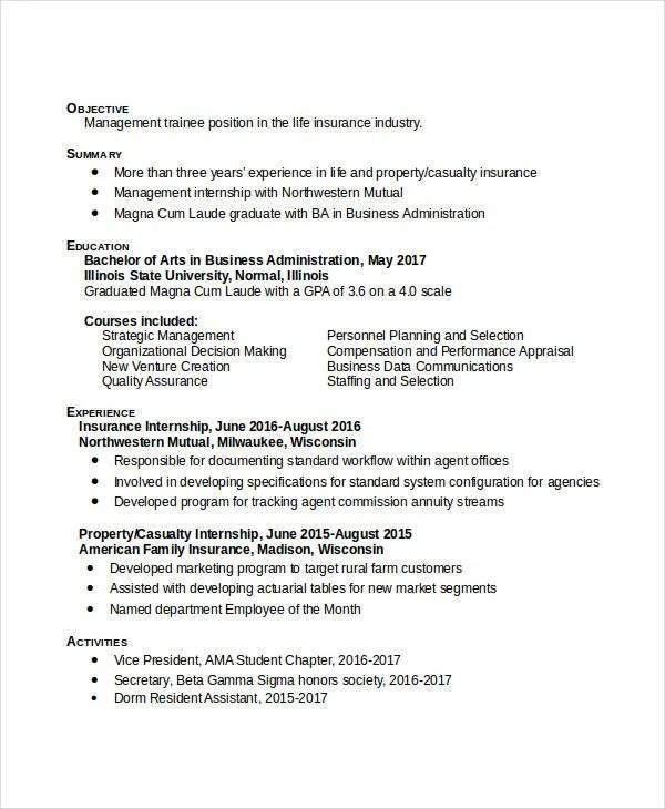 50 Administration Resume Samples PDF DOC Free Amp Premium Templates