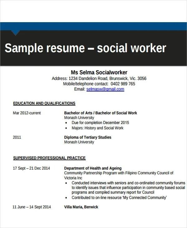 17 Free Work Resume Templates Pdf