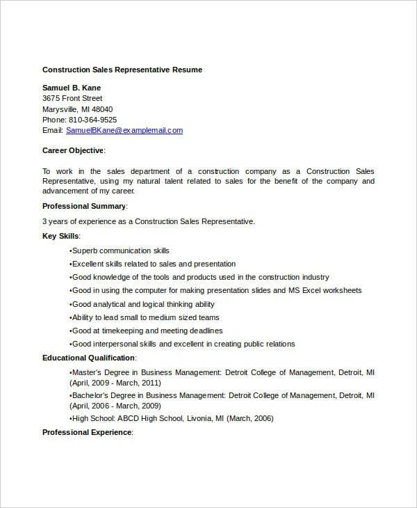 30 Free Sales Resume Templates Pdf Doc Free