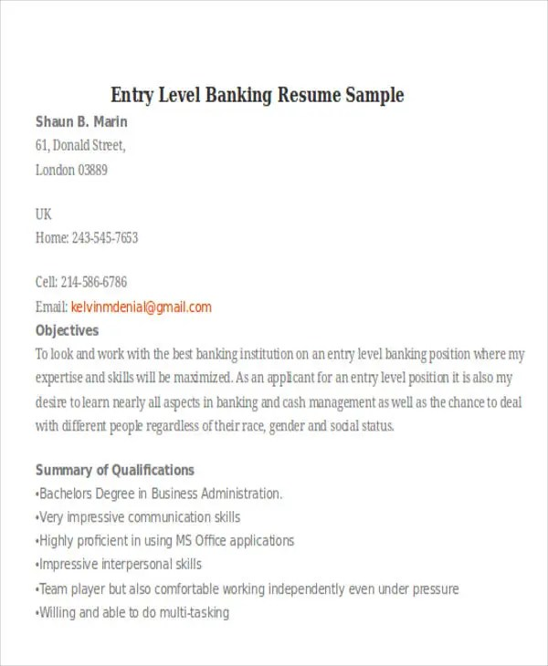 21 Banking Resume Templates PDF DOC Free Amp Premium Templates