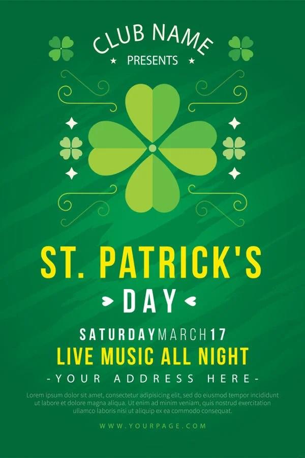 12 St Patrick39s Day Poster Templates PSD AI Free Premium Templates