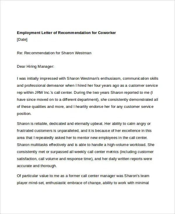EmploymentLetterOfRecommendationForCoworkerJpgResizeSsl