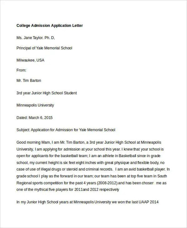 application letter for admission in high school The application deadline for the 2018-2019 school year is september 30, 2017 their application for admission to kamehameha schools is considered incomplete.