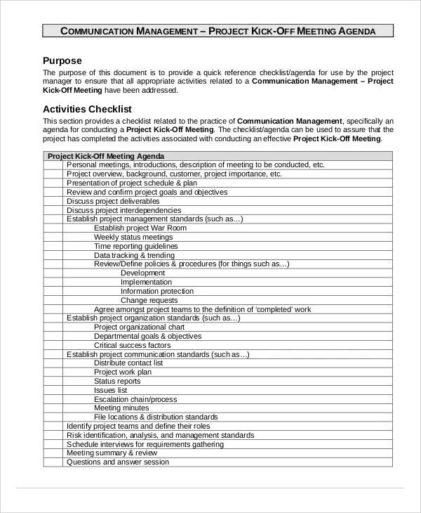 Project Agenda Templates 9 Free Word PDF Format Download Free Amp Premium Templates