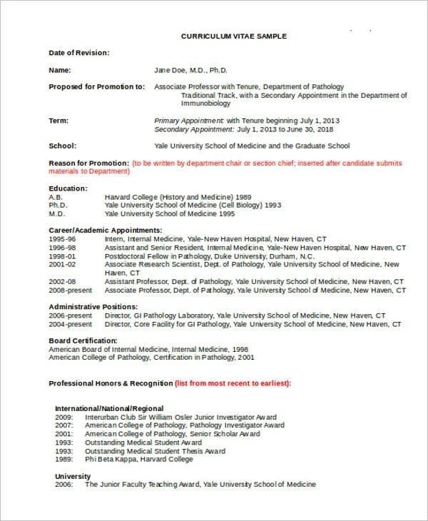Academic Resume Templates