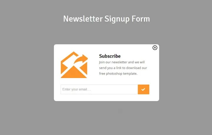Use this form to generate more signups from your website 16 Sign Up Form Templates Register Profile Newsletter Free Premium Templates