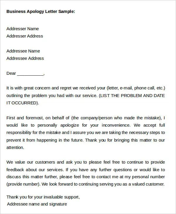 Apology letter format free download thecheapjerseys