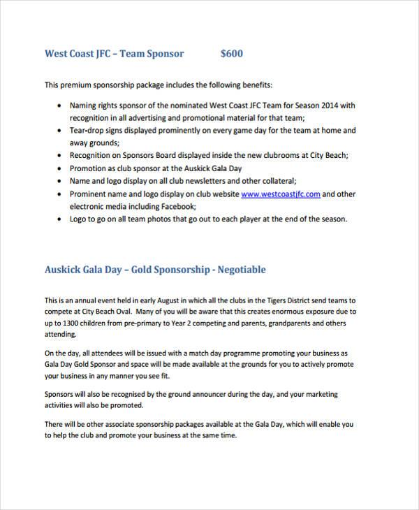 Sponsorship Example Proposal