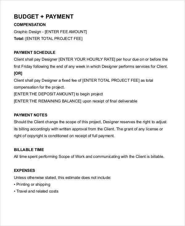 Interior Design Hourly Contract