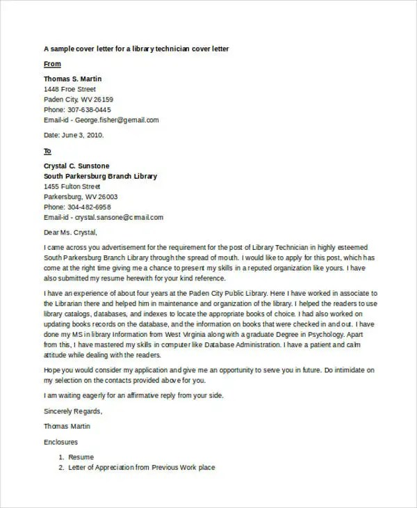 9 Librarian Cover Letter Free Amp Premium Templates