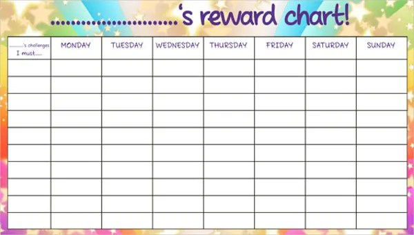 7 Reward Chart Templates Free Sample Example Format Download Free Premium Templates
