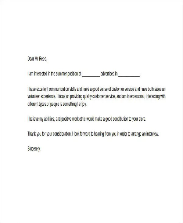Simple Resume Word Cover Letter