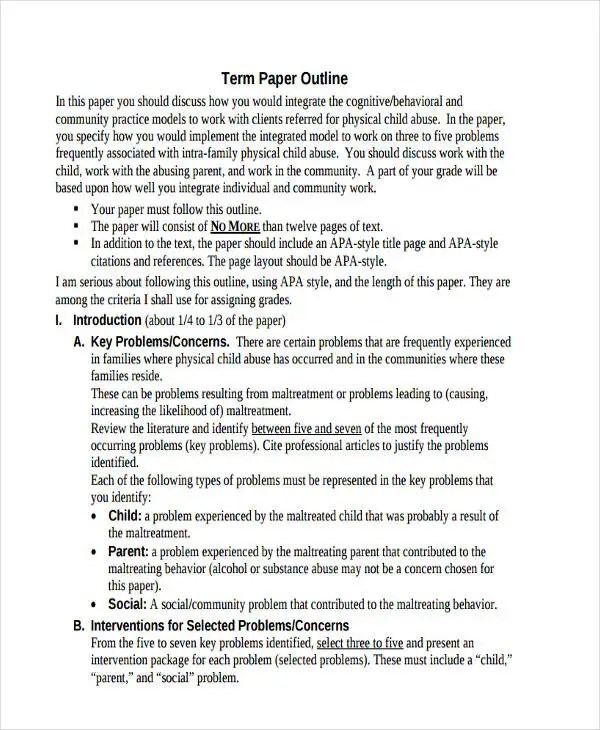 10 Paper Outline Templates