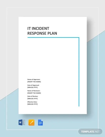 This basically means strong cybersecurity. 11 Incident Response Plan Templates Pdf Word Format Download Free Premium Templates