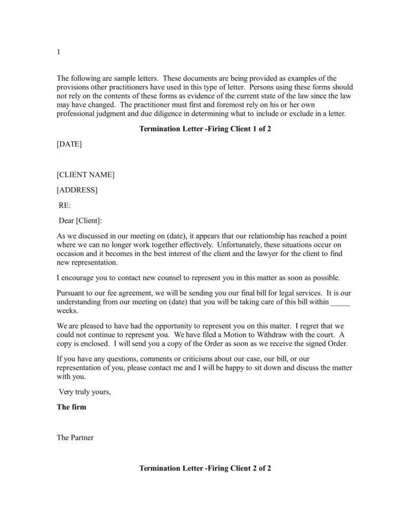 Sample Attorney Withdrawal Letter To Client Lvelegant