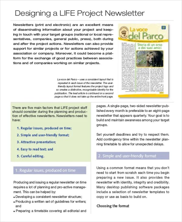 Electronic Newsletter Templates