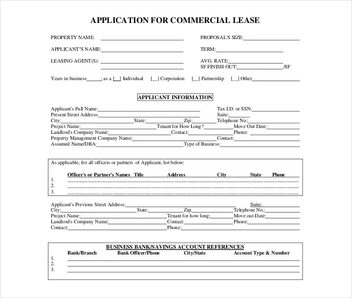27 Lease Application Forms In PDF Free Premium Templates
