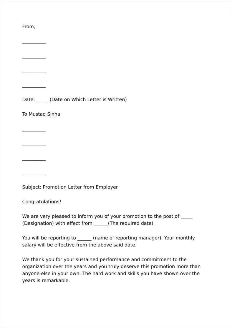 Thank You Letter For Congratulations On Job Promotion lvcrelegantcom