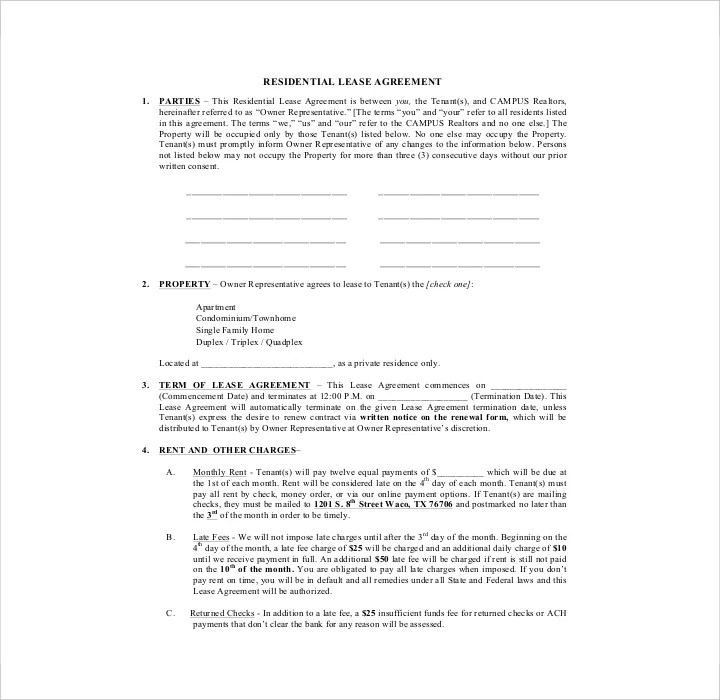 27 Lease Application Form Templates Free PDF Word Excel Format Download Free Premium
