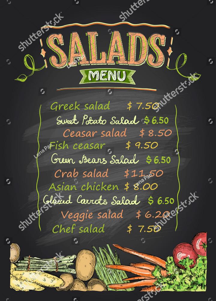 14 Delightful Salad Bar Menu Templates PSD AI Free Amp Premium Templates