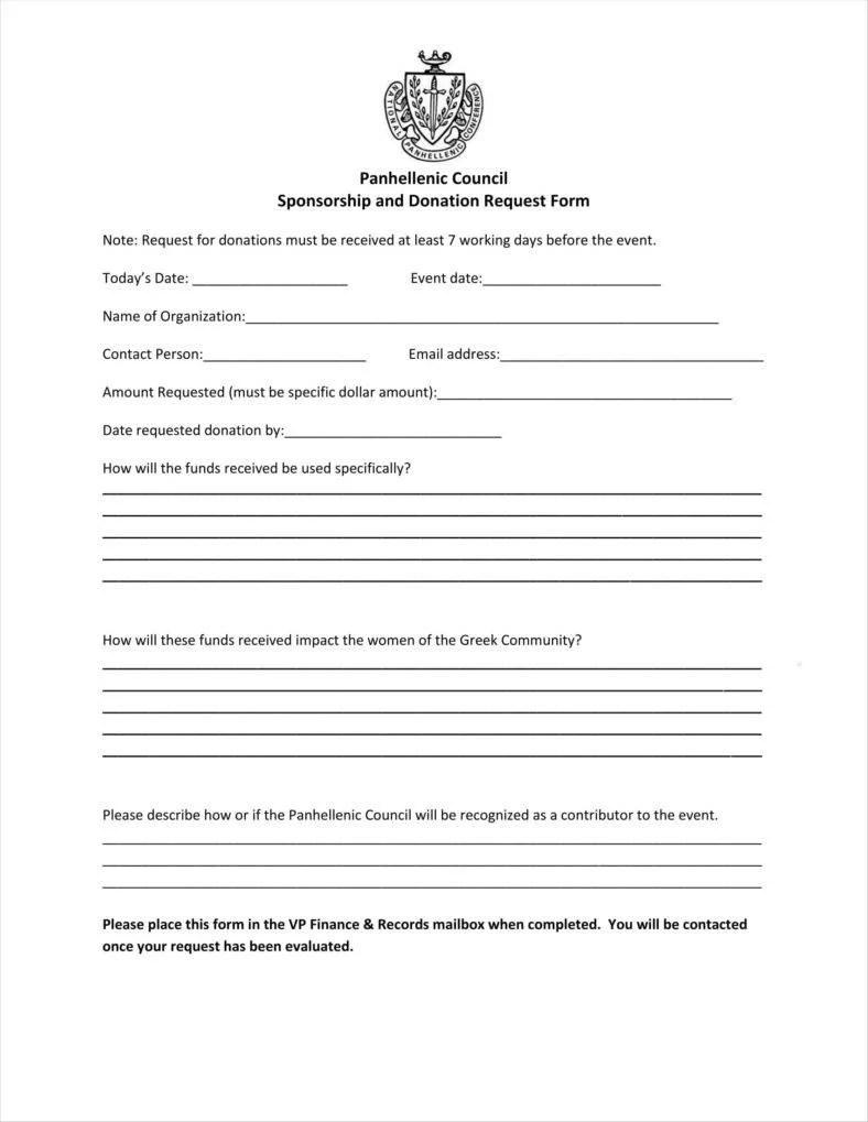9 Donation Application Form Templates Free PDF Format Download Free Amp Premium Templates