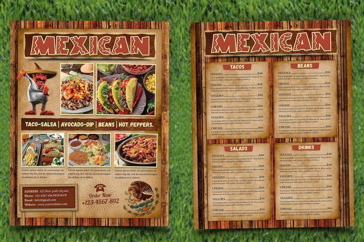 9 Mexican Restaurant Menu And Flyer Templates Free Amp Premium Templates
