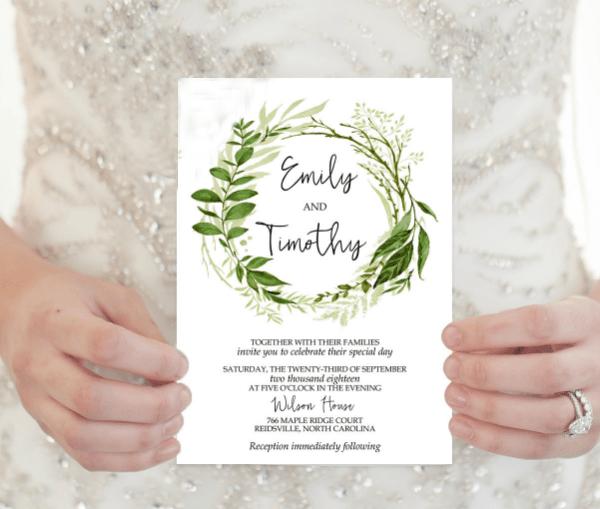 Elegant Wedding Invitation Templates