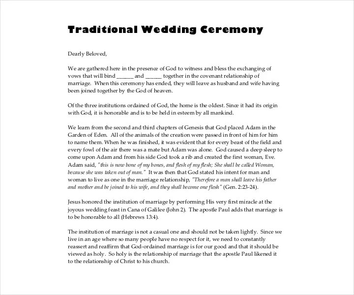 9 Wedding Ceremony Templates Free PDF DOC InDesign Format Download Free Premium Templates