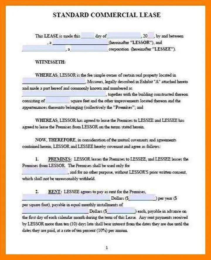 Law offices of todd e. Example Of Commercial Lease Agreement Standard Form Commercial Lease In Word And Pdf Formats A Commercial Lease Agreement Is A Contract Made Between The Landowner And The Business Party For