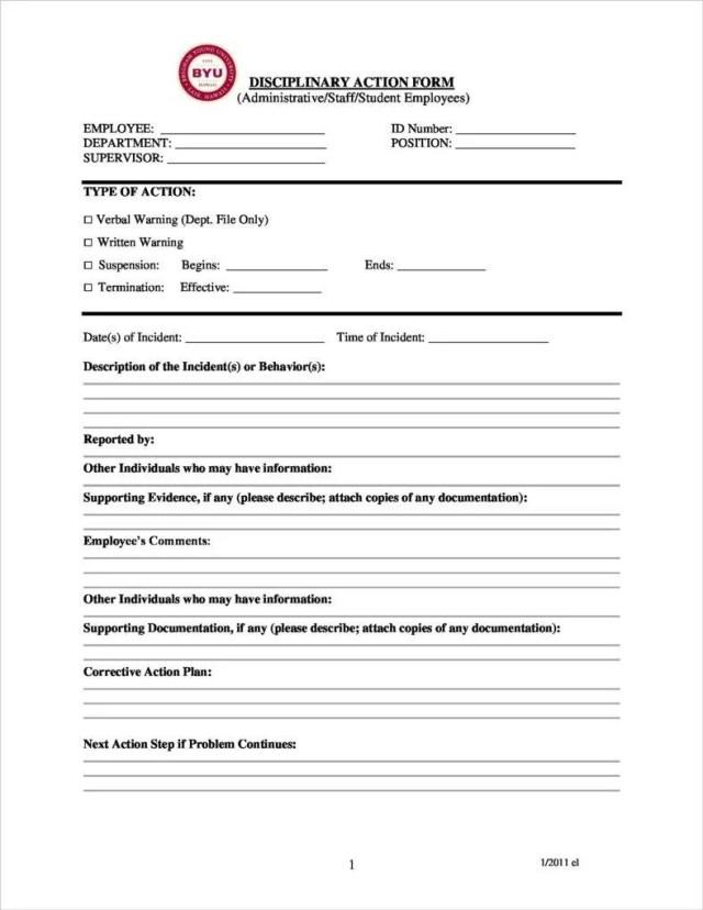 30+ Disciplinary Report Templates - PDF  Free & Premium Templates