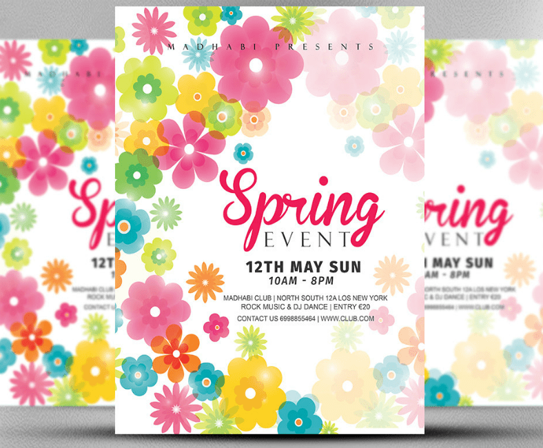 Abstract Spring Event Invitation