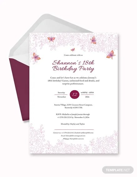 teenage birthday invitation templates