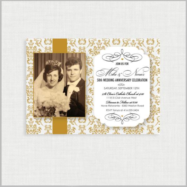 32 50th Wedding Anniversary Invitation Designs Templates