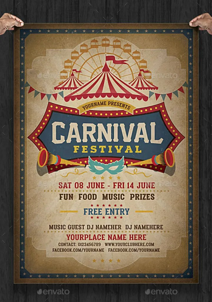 16 Carnival Party Invitation Designs Templates PSD AI Free Premium Templates