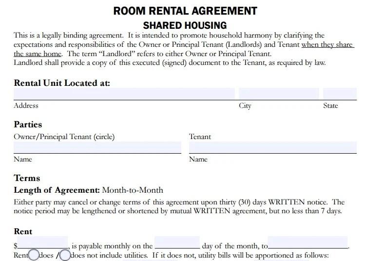4 Room Rent Agreement Format Templates PDF Word Free Amp Premium Templates