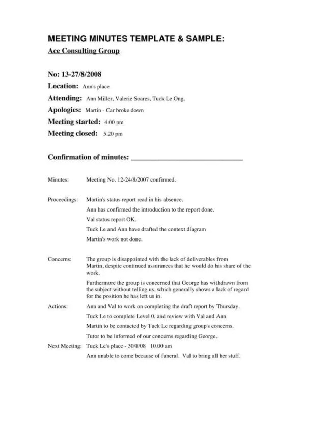 17+ Formal Minutes in a Meeting Templates  Free & Premium Templates