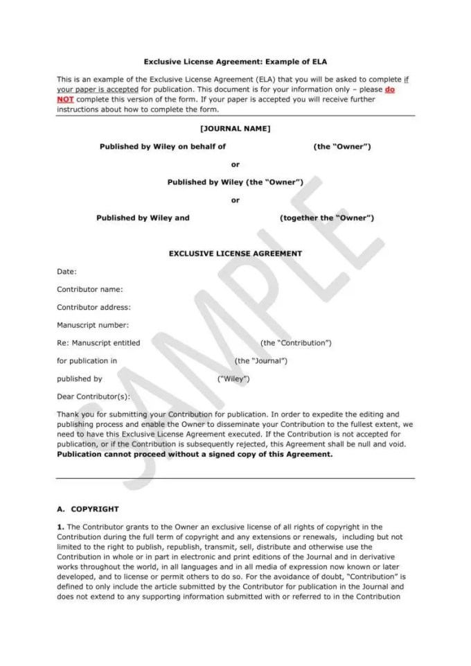 Exclusivity Agreement Template Uk Save Template