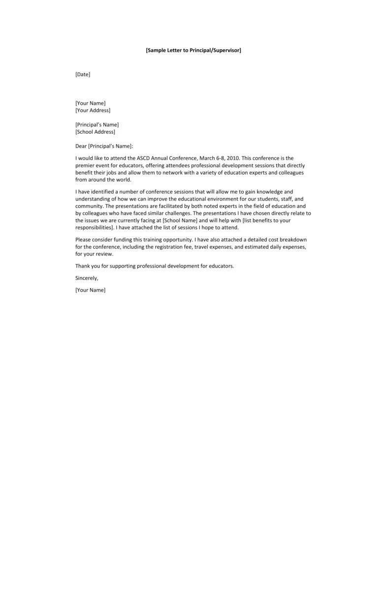 10 Request Letter To A Principal Templates PDF Free Amp Premium Templates