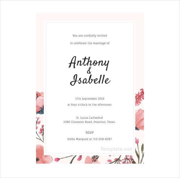14 Blank Wedding Invitation Designs Templates Psd Ai