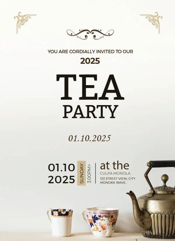 41 Tea Party Invitation Templates PSD AI Free Amp Premium Templates
