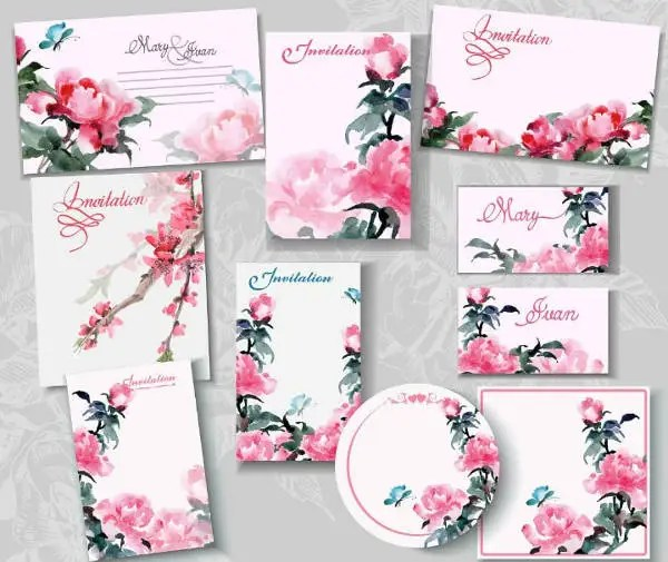 7 blank wedding invitation designs