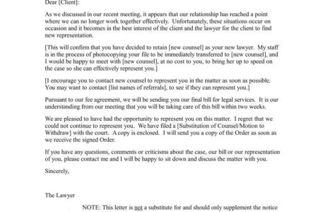 Free Resume 2018 » letter of representation attorney sample | Free ...