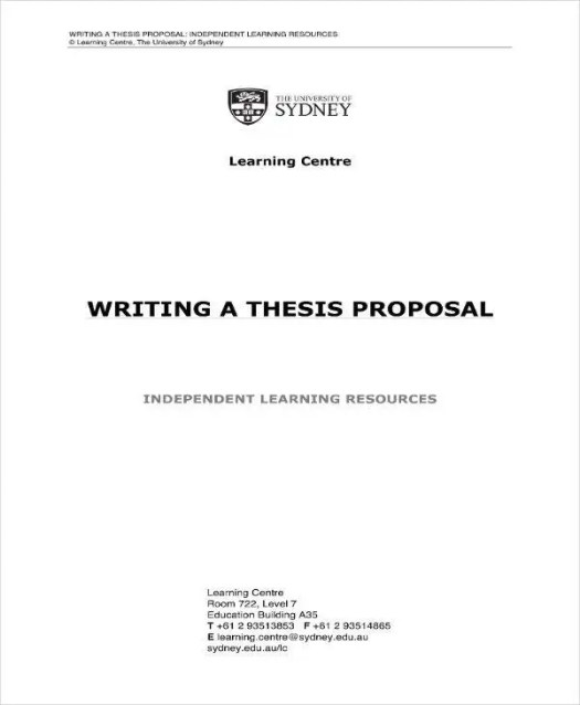 Image result for thesis proposal