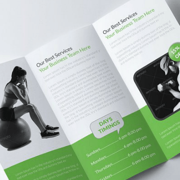 HD Decor Images » 14  Fitness Brochure Designs   Templates   PSD  AI   Free   Premium     Body Fitness Tri Fold Brochure Template