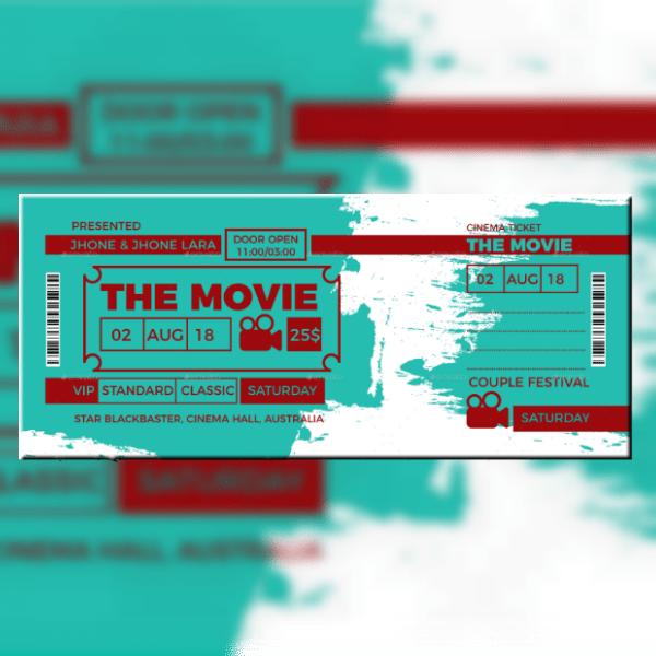 19 movie ticket invitation designs
