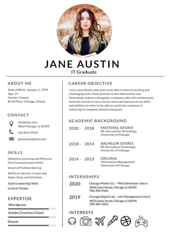 Modern editable cv templates free to download, you'll love the fresh crispness. Basic Fresher Resume Template In Word Apple Pages Psd Publisher Template Net