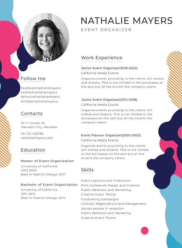 How to create a download file for a resume. 35 Sample Cv Templates Pdf Doc Free Premium Templates
