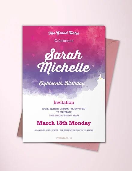 12 18th birthday party invitation